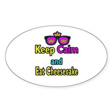Crown Sunglasses Keep Calm And Eat Cheesecake Stic