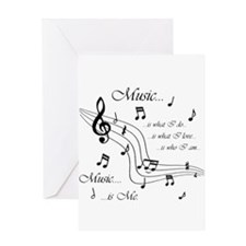 Music is Me Greeting Card