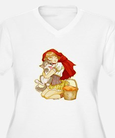 Red and Little Wolf Plus Size T-Shirt