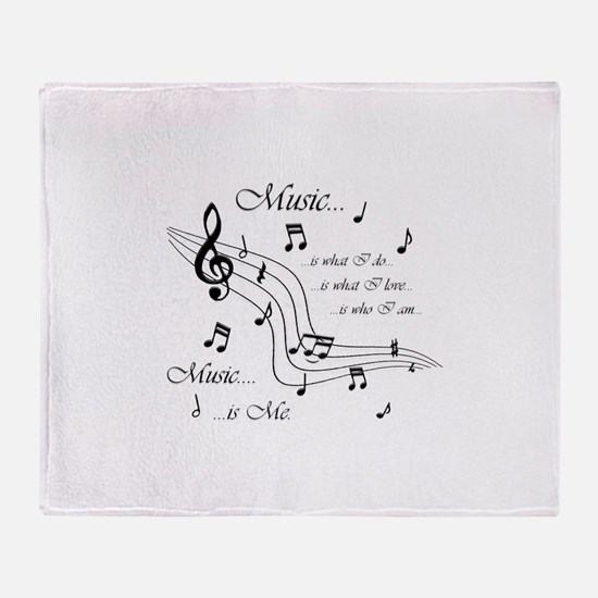 Music is Me Throw Blanket