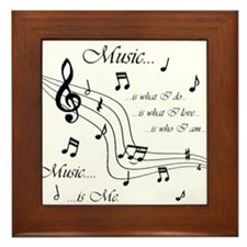 Music is Me Framed Tile