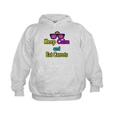 Crown Sunglasses Keep Calm And Eat Carrots Hoodie