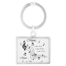Music is Me Landscape Keychain