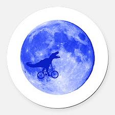 T-Rex Moon Round Car Magnet
