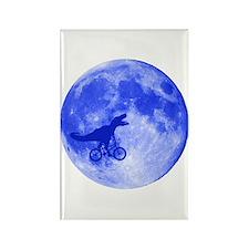 T-Rex Moon Rectangle Magnet