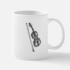 Woodcut Violin/Fiddle Mug