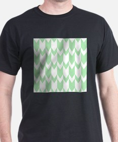 Pale Green Chevrons. T-Shirt