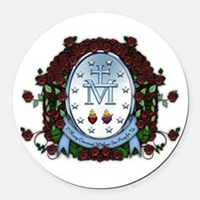 Miraculous Medal 2 Round Car Magnet