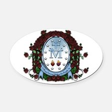Miraculous Medal 2 Oval Car Magnet