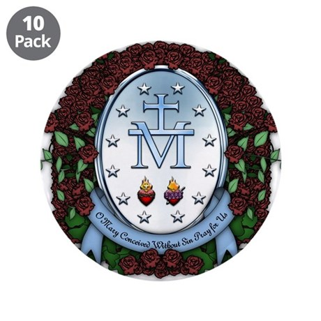 """Miraculous Medal 2 3.5"""" Button (10 pack)"""