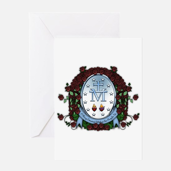 Miraculous Medal 2 Greeting Card