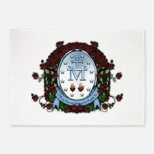 Miraculous Medal 2 5'x7'Area Rug