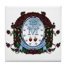 Miraculous Medal 2 Tile Coaster