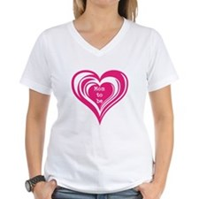 Pink Triple Heart Mom To Be T-Shirt