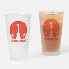 Perfect Sunset Ukulele Drinking Glass