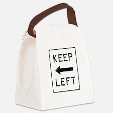 Keep Left Canvas Lunch Bag