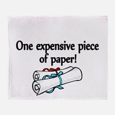 One expensive piece of Paper! Throw Blanket