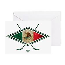 Hockey Sobre Hielo Mexico Greeting Card