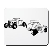 Roadsters parked Mousepad