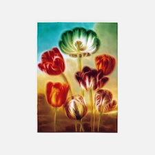 Tulips Under The Sky 5'x7'Area Rug