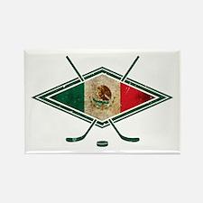 Hockey Sobre Hielo Mexico Rectangle Magnet