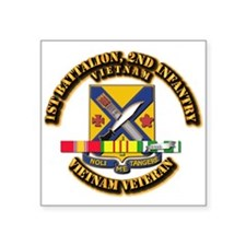"1st Battalion, 2nd Infantry Square Sticker 3"" x 3"""