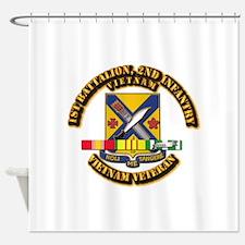 1st Battalion, 2nd Infantry Shower Curtain