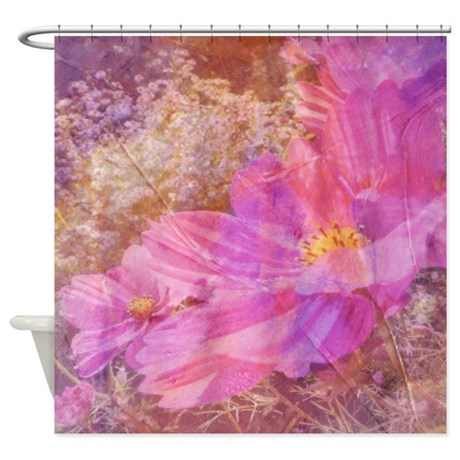 purple floral mix shower curtain by ibeleiveimages. Black Bedroom Furniture Sets. Home Design Ideas