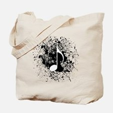 Music Splatter Tote Bag