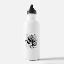 Music Splatter Sports Water Bottle