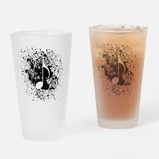 Music Splatter Drinking Glass