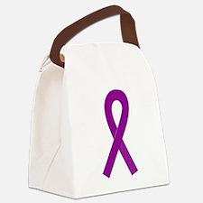 Peach Awareness Ribbon Canvas Lunch Bag