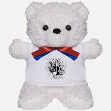 Music Splatter Teddy Bear