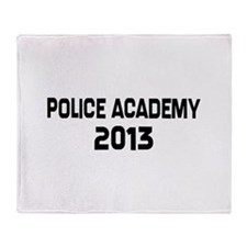 2013 Police Academy Grad Throw Blanket