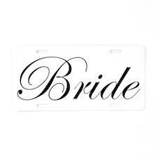 Bride's Aluminum License Plate