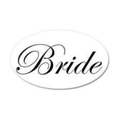Bride's 35x21 Oval Wall Decal