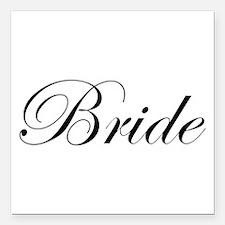 """Bride's Square Car Magnet 3"""" x 3"""""""