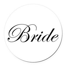 Bride's Round Car Magnet