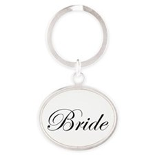 Bride's Oval Keychain