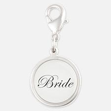Bride's Silver Round Charm