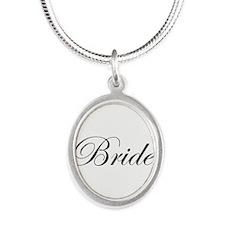 Bride's Silver Oval Necklace