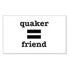Quaker (equals) Friend Decal