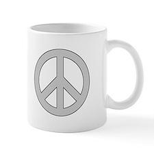 Silver Peace Sign Mug