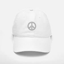 Silver Peace Sign Baseball Cap