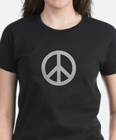 Silver Peace Sign T-Shirt