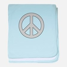 Silver Peace Sign baby blanket