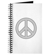 Silver Peace Sign Journal