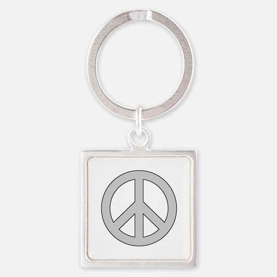 Silver Peace Sign Keychains