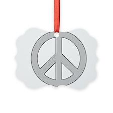 Silver Peace Sign Ornament
