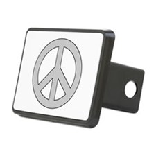 Silver Peace Sign Hitch Cover